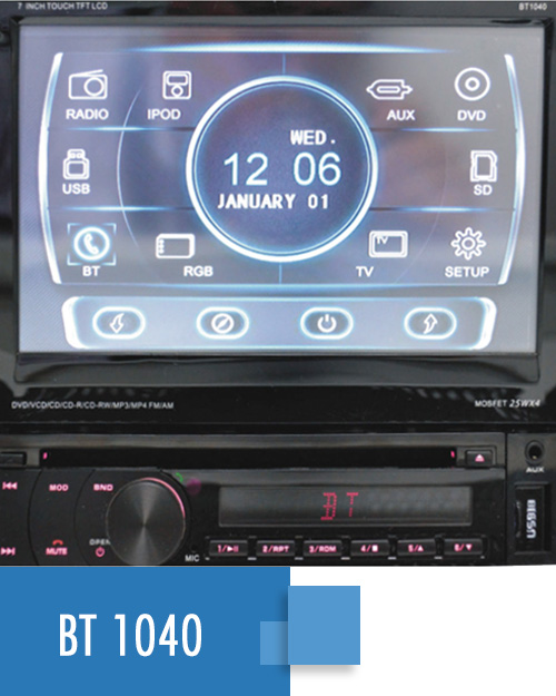 Radio Multimedia y Pantalla Táctil  BT1040